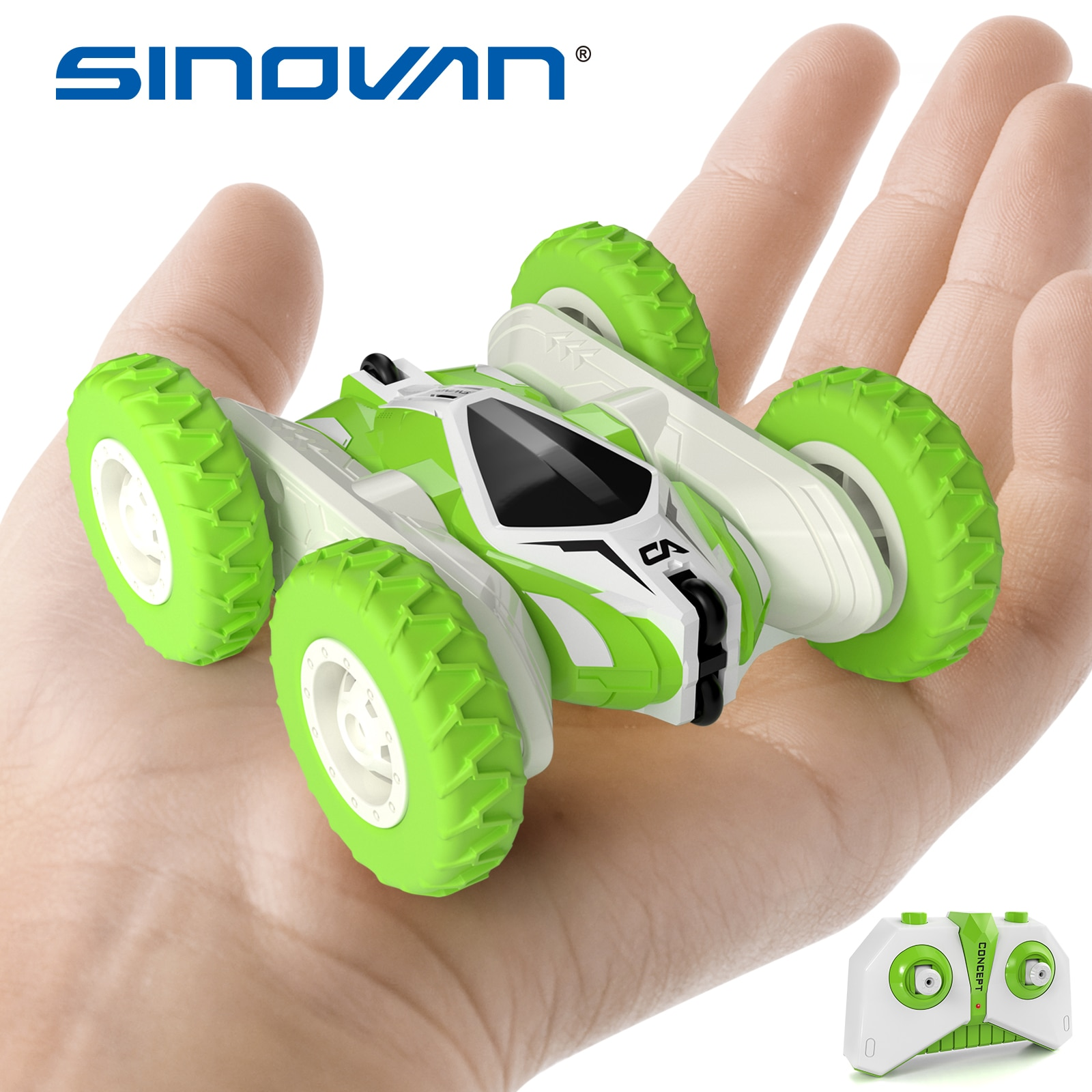 Sinovan Hugine RC Car 2.4G 4CH Stunt Drift Deformation Buggy Car Remote control Roll Car 360 Degree Flip Kids Robot RC Cars Toys