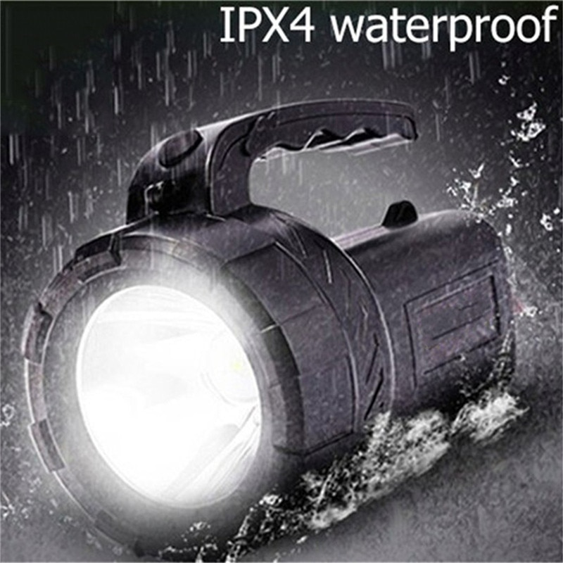 NDTUSMZ linterna de luz dura 18650 linterna recargable de largo alcance al aire libre impermeable Hunter lámpara reflector portátil