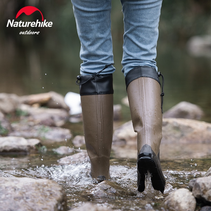 Naturehike الصيد أحذية أحذية المطر تنفس الخوض أحذية الرجال النساء أحذية رياضية عدم الانزلاق احذية المطر السفر أحذية مضادة للماء