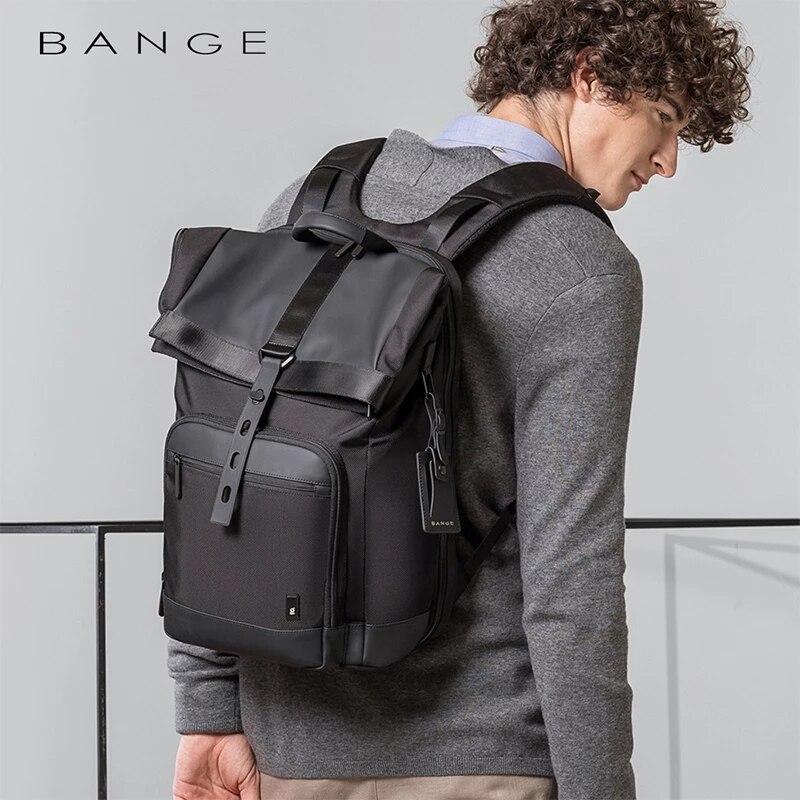 Bange الرجال الموضة على ظهره متعددة الوظائف مقاوم للماء على ظهره حقيبة السفر اليومية حقيبة ظهر مدرسية عادية للجنسين