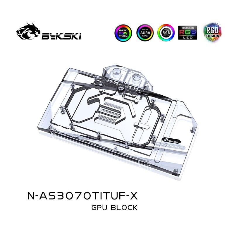 Bykski N-AS3070TITUF-X,GPU Water Block For ASUS TUF RTX3070TI 8G OC GAMING Graphic Card Radiator,VGA Cooler 5V 12V