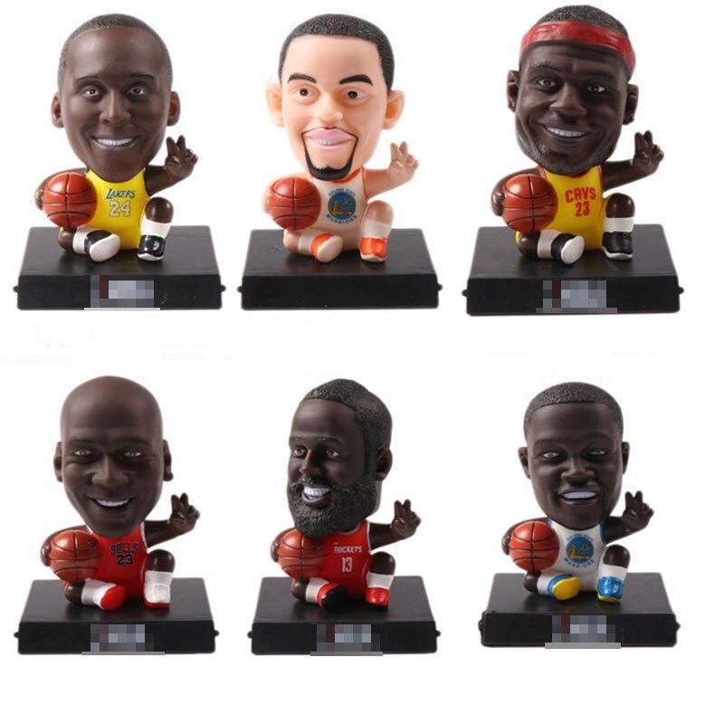 Coche versión Q baloncesto-estrella figura muñeca niños juguetes ornamentos adultos colección agitar cabeza decoración regalo inspirador