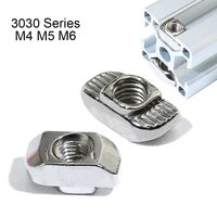 30 80 pieces 3030 series m4 m5 m6 thread t nuts hammer head fastener nut for 30x30 aluminum extrusion profile t slot 8mm