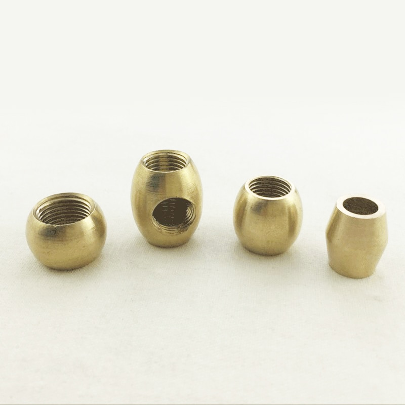Round ball block nut M10*1 brass nut  lights hollow screw  connector cobrass Vintage chandelier copper lamp holder connector