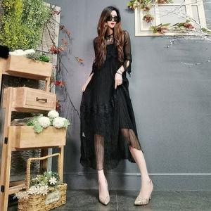 Dress 2021 new high-end foreign style with condole belt silk dress women slim belly mulberry silk dress