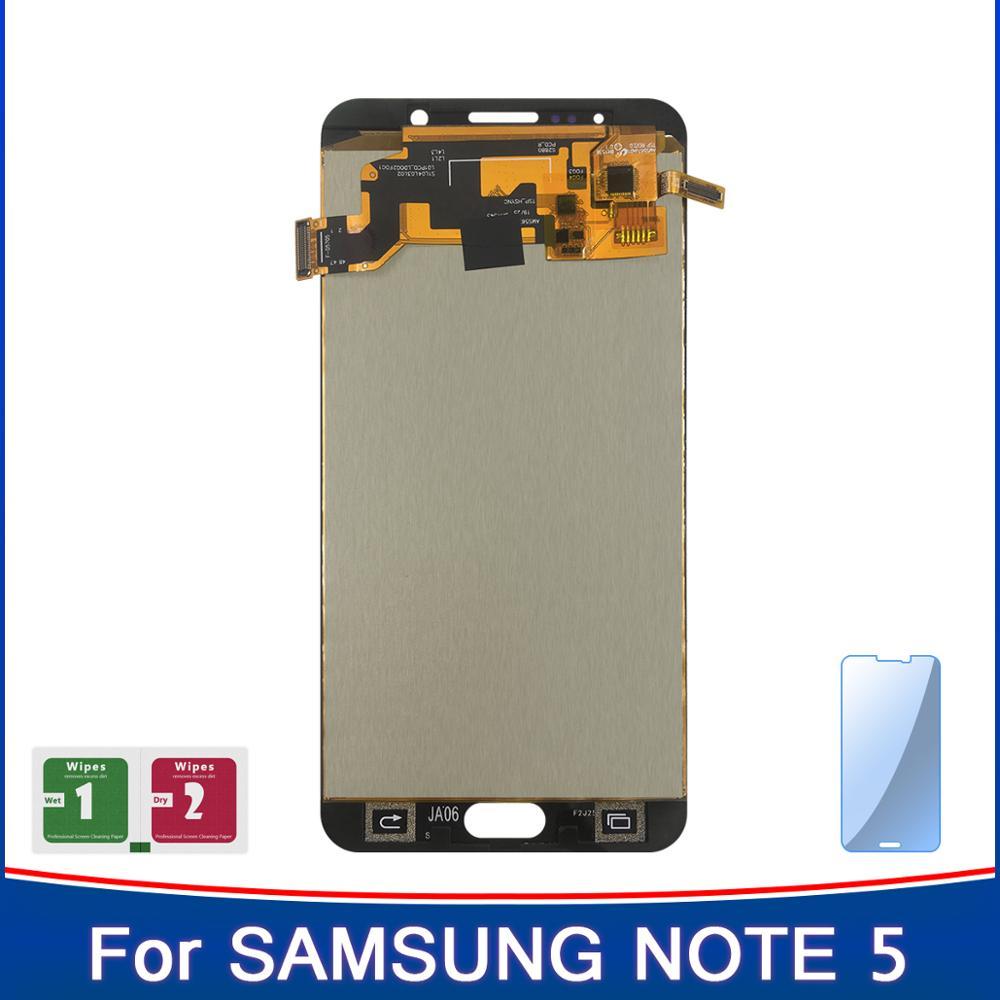 Pantalla LCD de alta calidad de 5,7 para Samsung Galaxy NOTE 5 N920 N920F N920C LCD panel sensor con pantalla táctil TFT reemplazo