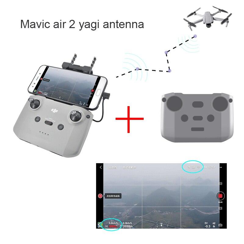 Mavic air 2 ملحقات 2.4G 5.8G متحكم إشارة الداعم هوائي 2.5-3.5 كجم ل DJI Mavic air 2 Yagi-Uda غطاء متحكم