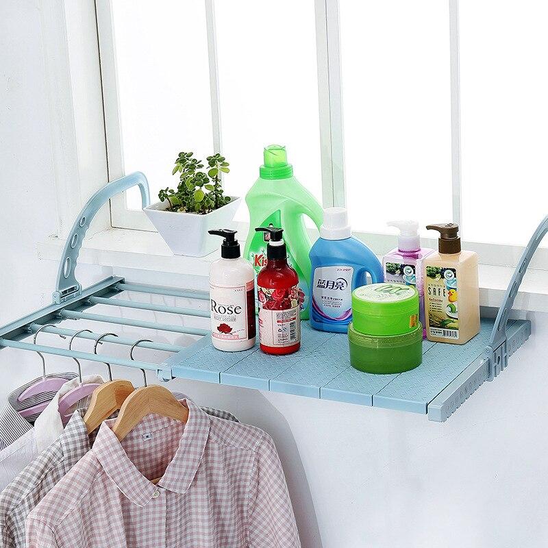 Secador de radiador multifunción para balcón estante colgante para el hogar gancho de cerca ajustable secador de ropa toallero estante de almacenamiento