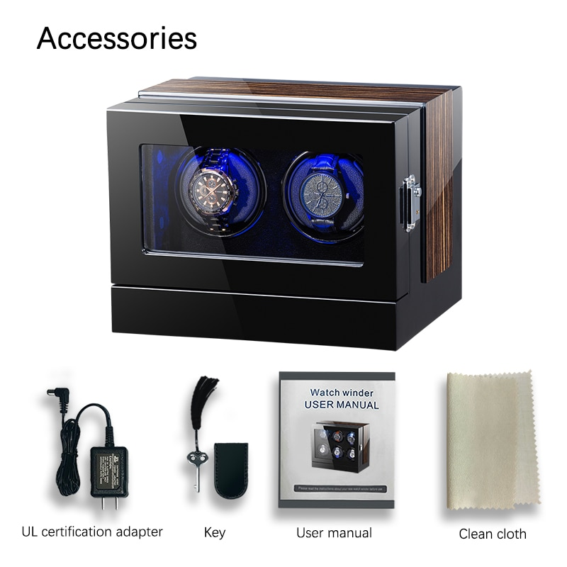 Automatic Wooden Watch Winder Box Accessories Display Mechanical Single Rotating watch box uhrenbeweger for auto watches enlarge