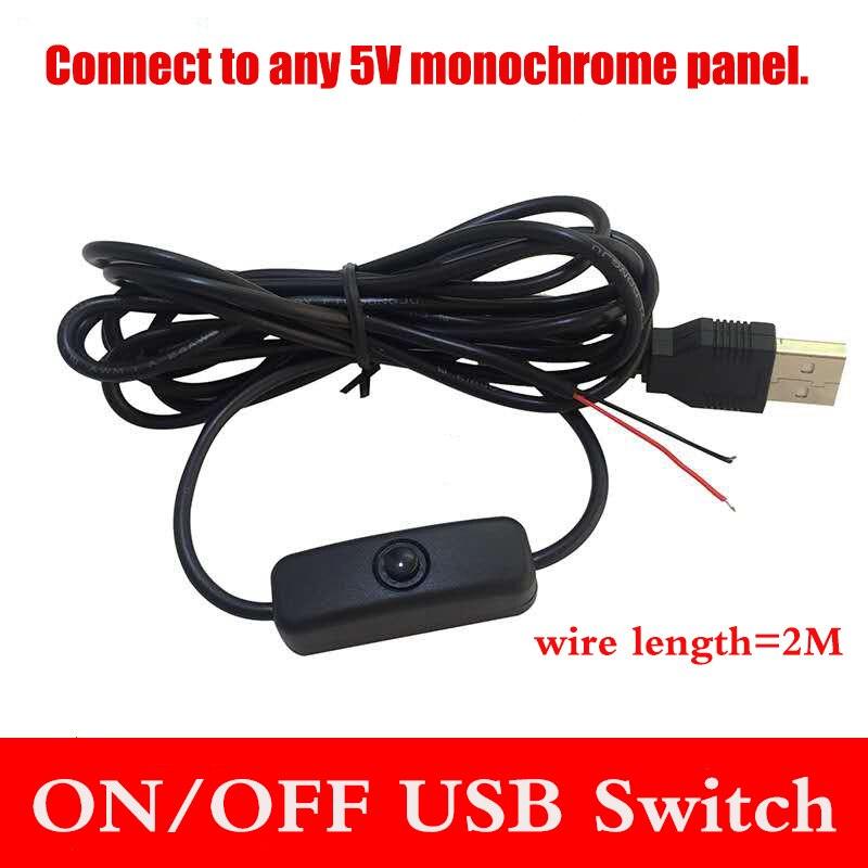 DALCAN interruptor de encendido/apagado USB Lámpara de escritorio de cable interruptor de tira de luz fresco cable de alimentación panel monocromático interruptor de cable