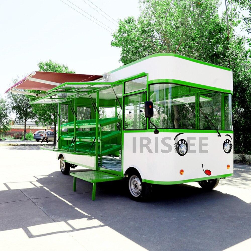 Carritos de comida móviles/remolque/camión de helados/carritos de comida snack personalizados para la venta con envío por mar