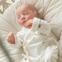 19 inch cus60 silicone newborn 49cm cute rebirth dolls with white clothes sleeping infant christmas gifts