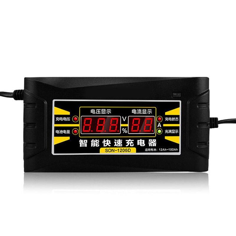 Интеллектуальное зарядное устройство для автомобиля 12 В 6A 10A быстрая зарядка