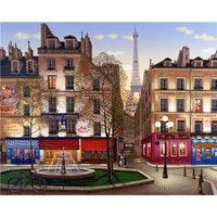 diy painting by numbers city square kit oil picture by numbers landscape wall art acrylic paintings on canvas home decoration