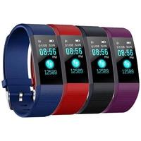 115 плюс смарт-браслет Bluetooth Смарт-часы сердечного ритма крови Давление монитор фитнес-трекер Умные Электронные Силиконовые Браслеты