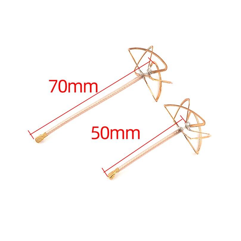5,8G 2.5dBi a 3dBi RHCP conector IPX trébol FPV VTX antena para INNOVA VTX 50mm 70mm para FPV transmisor DIY RC Quadcopter