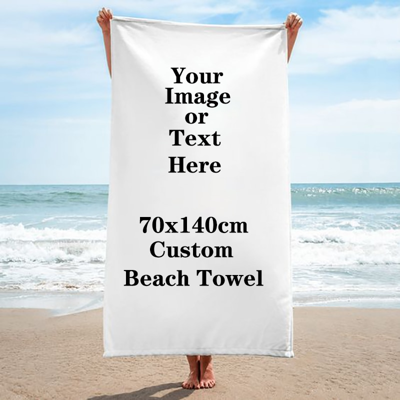 Toalla de playa personalizada con logotipo, Toalla de baño de microfibra de secado rápido para silla, manta para gimnasio, Toalla de baño absorbente, toallas de baño personalizadas