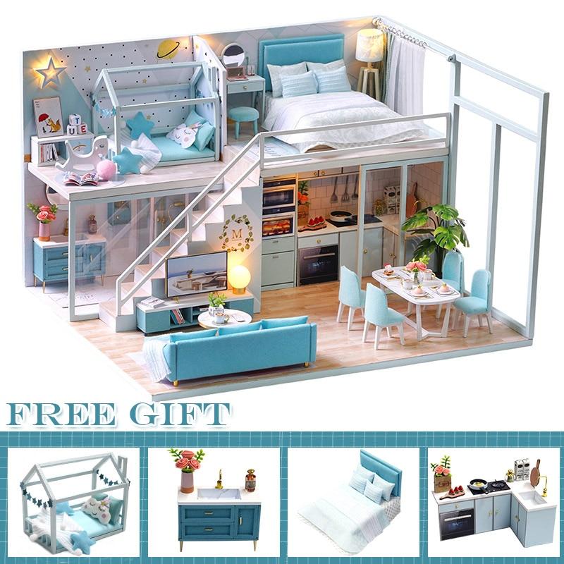 Kit de muebles en miniatura para Casa de DIY para muñecas, regalo...