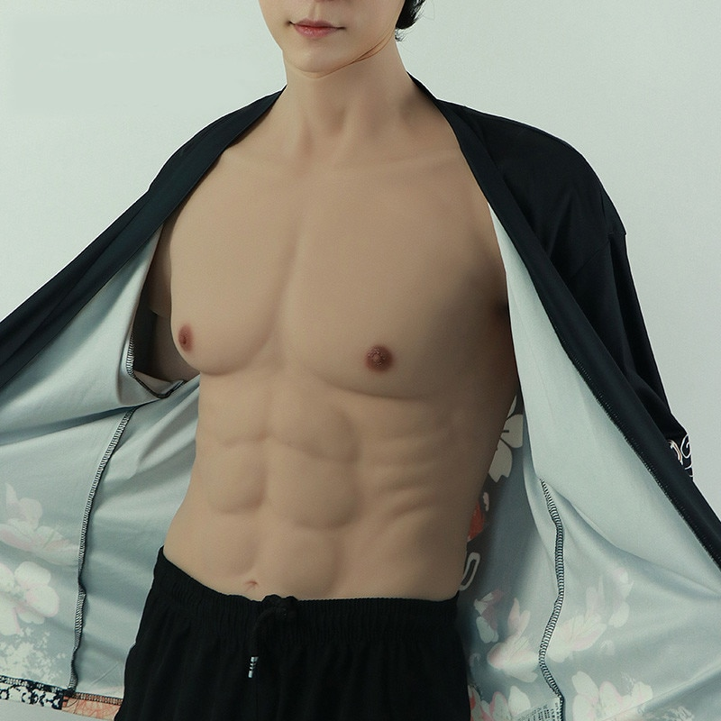 New Realistic Fake Muscle Belly Macho Silicone Artificial Simulation Muscle Skin Up Body Artificial Cosplay Latex Shapewear