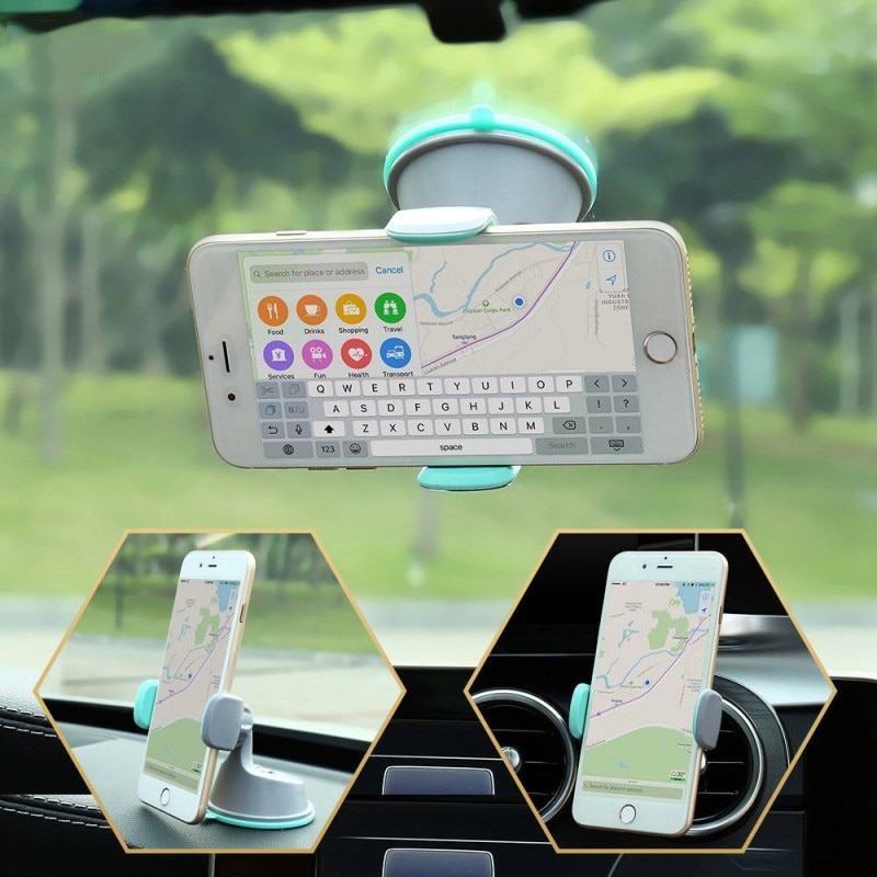 360 Rotatable Car Phone Holder Windshield Stand Car Air Vent Mount Stand Car Dashboard Phone Bracket  For IPhone Samsung Huawei car phone holder bracket with suction cup free stretch windshield dashboard holder in car 360 adjustable auto for iphone xiaomi