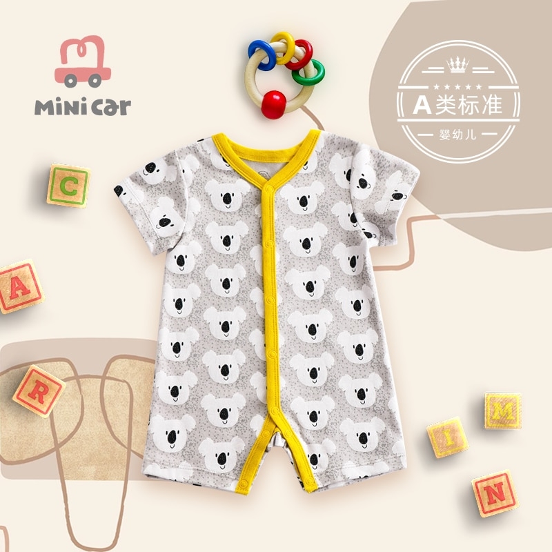 Baby romper BOY BABY BODYSUIT newborn summer short sleeve outdoor clothes open