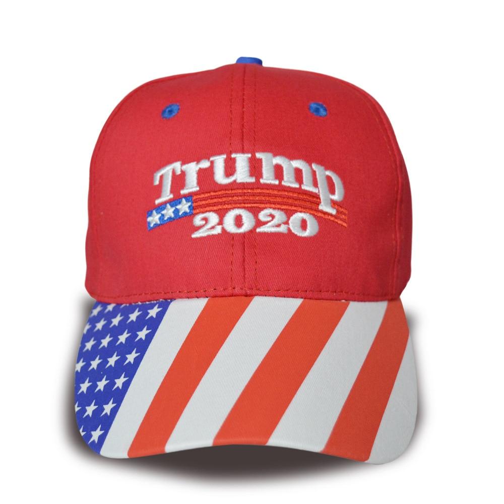 Donald Trump 2020 Kappe Männer Frauen streifen USA Flagge Baseball Caps HALTEN Amerika Große Hysterese Präsident Hut Stickerei