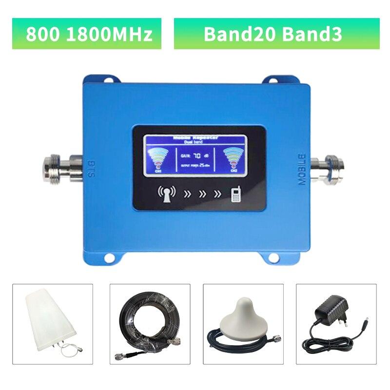 LTE 4G ретранслятор 800 1800 МГц LTE Усилитель сотового сигнала 4G усилитель сотовой связи Mobile 800 1800 DCS усилитель сигнала ретранслятор