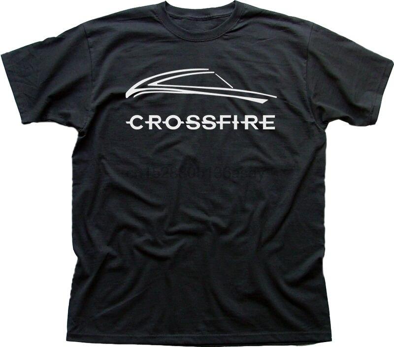 New Brand T Shirt Men Chrysler Crossfire Car V8 Srt6 Roadster Black Cotton T Shirt 9898 Printed T Shirts MenS Streetwear Casual