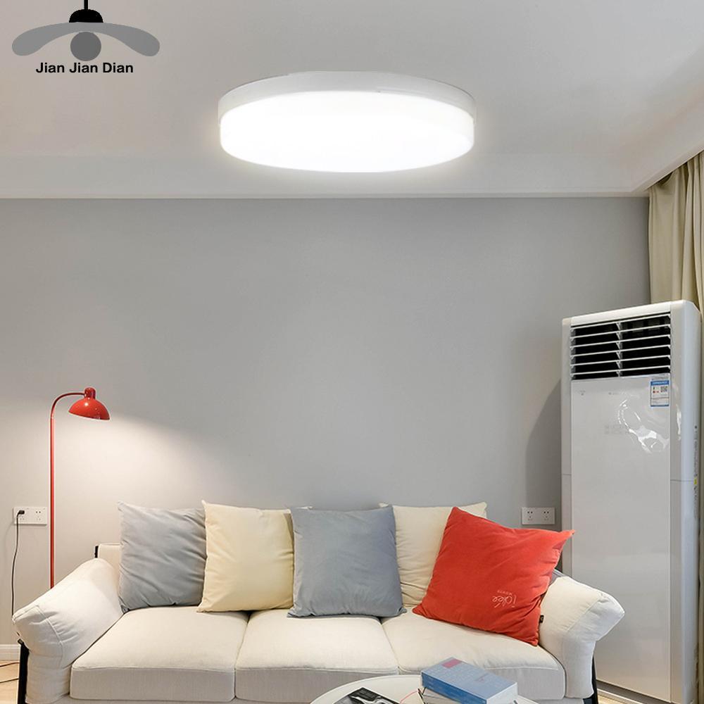 Luz de teto led painel lâmpada montado em superfície 6w 9 13 18 24 36 48 para baixo luz AC85-265V cozinha garagem casa dispositivo elétrico iluminação