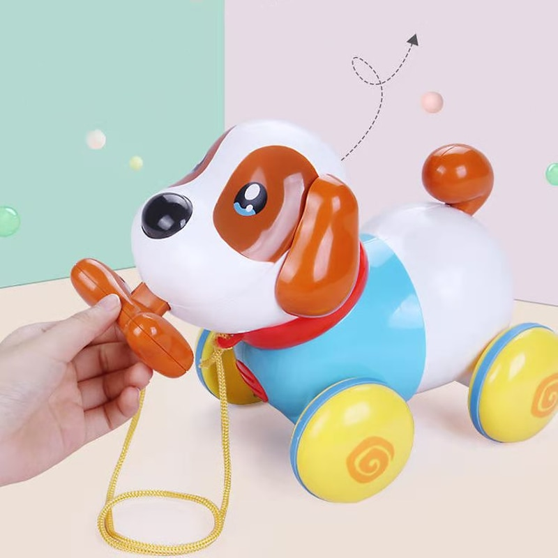 Kids Cartoon Music Cable Dog Electronic Animal Pet Dance Robot Dog Electric Walking Dog Educational Toys for Kids Child Gift