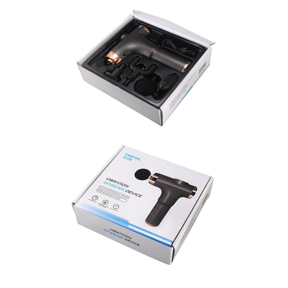 Fascia Gun Muscle Relaxer Electric Shock Grab Massage Gun Fitness Rod Deep Vibrator USB Charging +4pcs Massage head Massager Kit enlarge