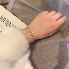 Special-Interest Design Circle Diamond Bracelet Female Japanese and Korean Ins Cold Style Simple Per