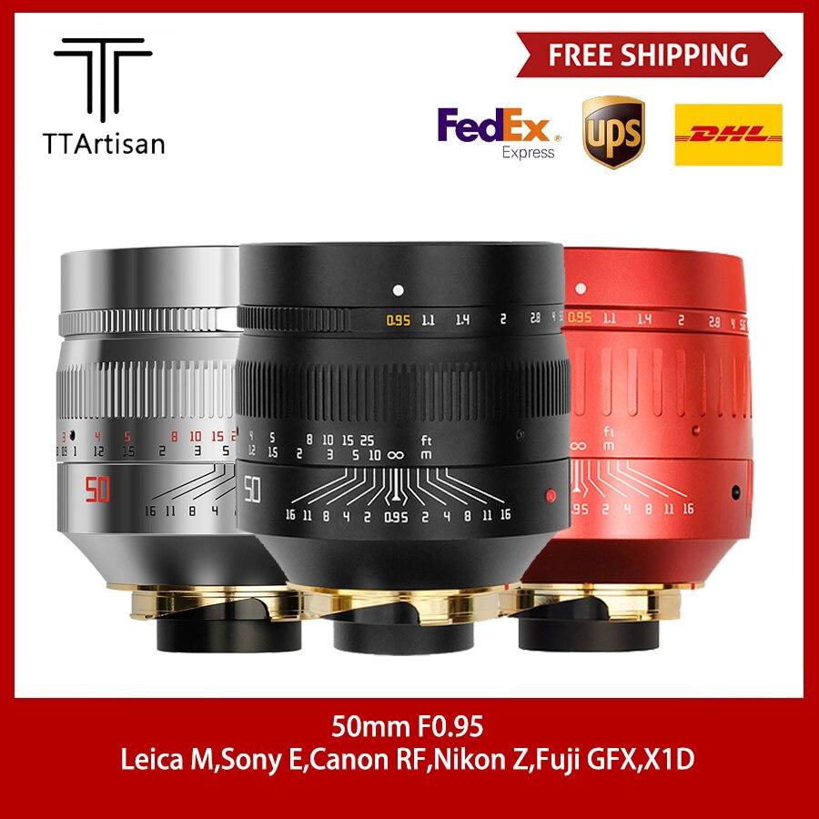 TTartisan 50 مللي متر F0.95 عدسة ل Leica م جبل كاميرا فتحة كبيرة ل Leica M9 M10 50/0.95 عدسة الكاميرا الإطار الكامل التركيز اليدوي