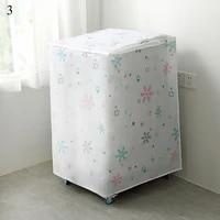 durable washing machine cover save space organizer cartoon floral elk snowflake print dust guard household waterproof dust cover