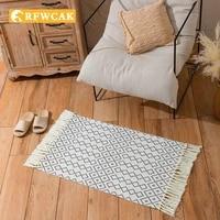 nordic modern home decoration tassel door mat living room bedroom porch non slip dust removal bedside personality creativecarpet