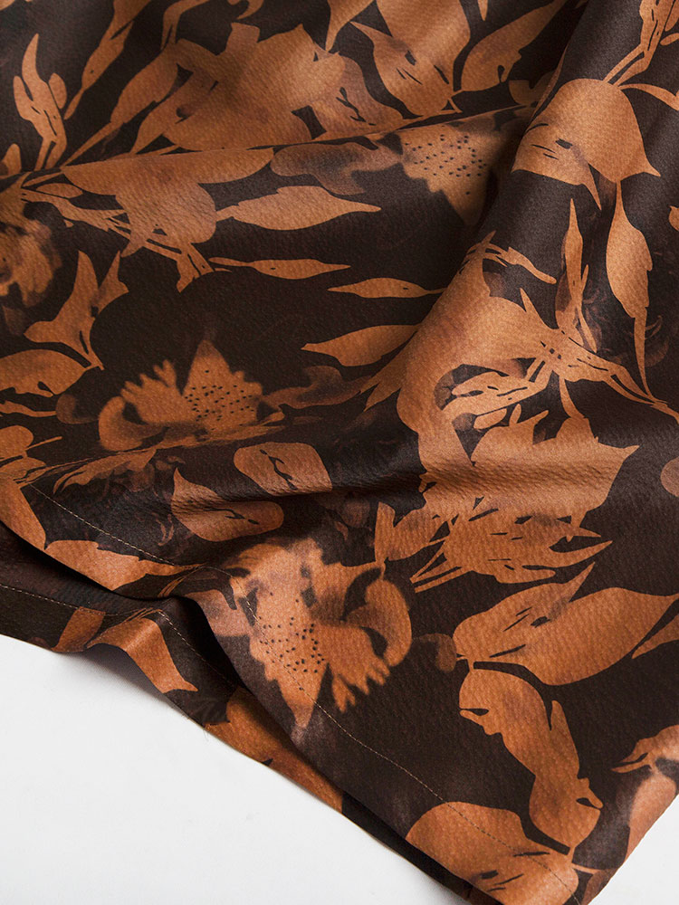 Gommi Heavy Pearl Satin Silk Cloud Yarn Dress Female Chinese Literary Loose Robe Long Skirt