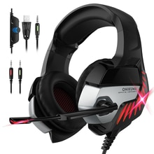 ONIKUMA K5 Pro PS4 Headset Stereo Bass Gaming Kopfhörer Spiel Kopfhörer Mit Mic & LED Licht Für PC Handy neue Xbox One Tablet