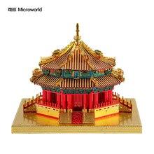 Microworld 3D metal puzzle Big Politics Palace building Model kits DIY Laser Cut Jigsaw Model gift For children Adult Toys