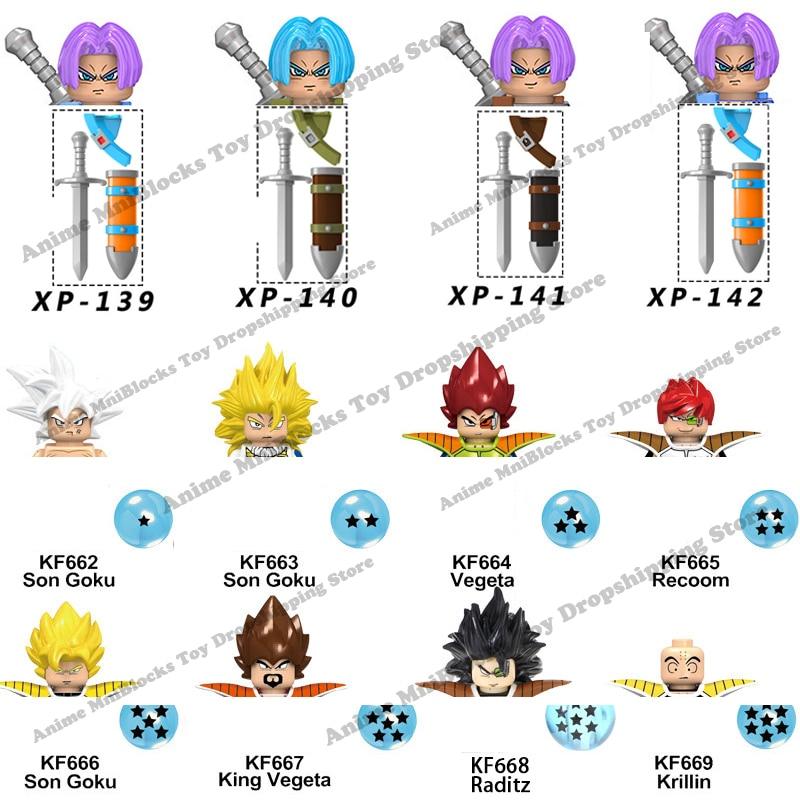KF6057 KF6142 KT1020 Одиночная продажа конструктор Dragon Ball Z Goku Аниме Собирать куклы детские мини Экшн-игрушки Фигурки кирпичи подарки