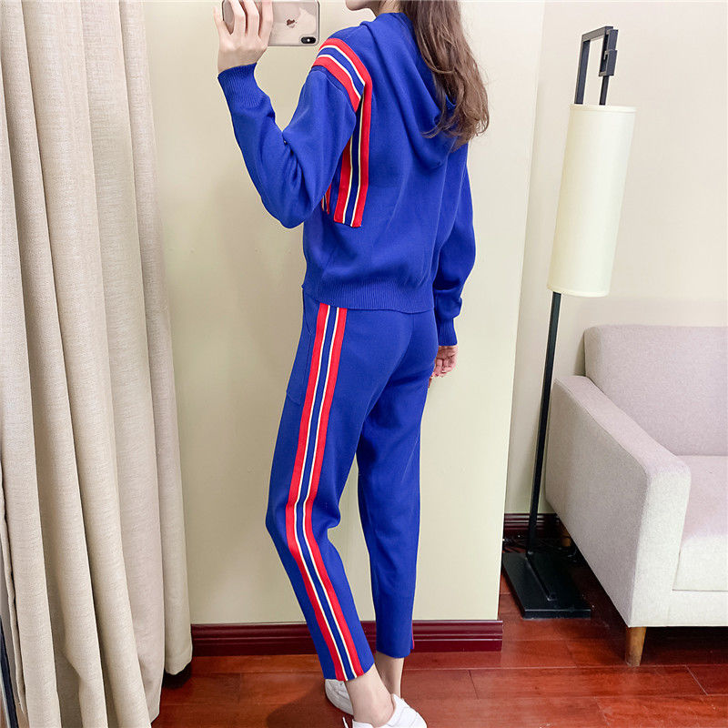 Spring Autumn New Women's Casual Suit, Female Temperament, Western Style, Thin, Fashionable Two-piece Suit, European Goods Trend  - buy with discount