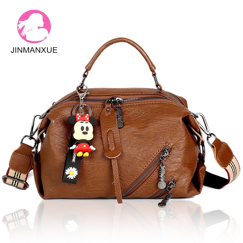 Wide Shoulder Strap Women Handbags High Quality Leather Ladies Bags Brand Double Zipper Luxury Crossbody