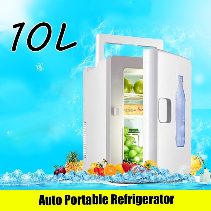 Mini nevera portátil para coche, calentador pequeño de 10 litros, color blanco,...