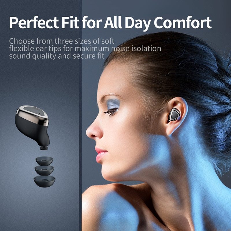 TWS ear buds bluetooth wirelss headphones HIFI stereo noise cancelling headset sports waterproof earbuds enlarge