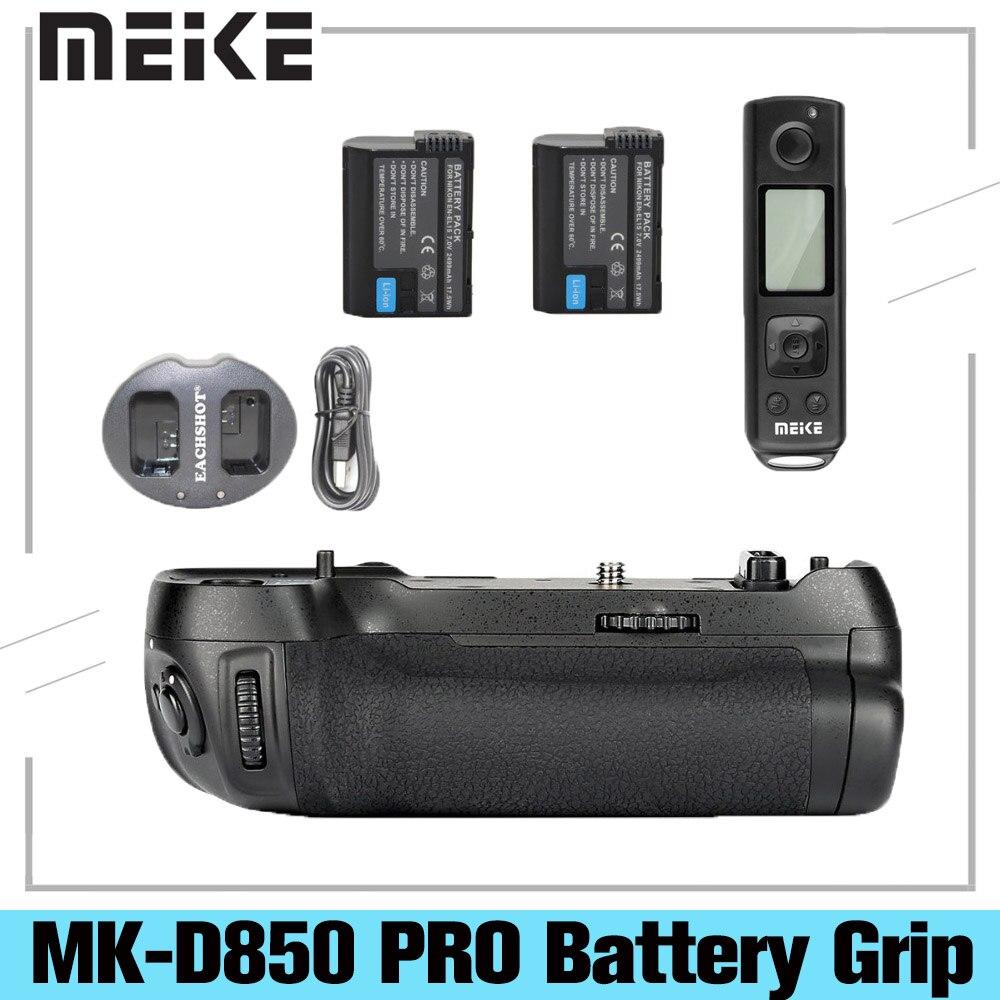مايكه MK-D850 برو قبضة البطارية مع 2.4G اللاسلكية التحكم عن بعد لنيكون D850 + 2 * EN-EL15 البطارية + USB المزدوج شاحن