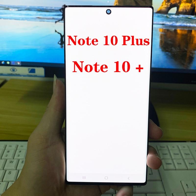 شاشة LCD تعمل باللمس مع خط ميت ، 6.8 بوصة ، لهاتف Samsung Galaxy Note 10 Plus N975 N975F