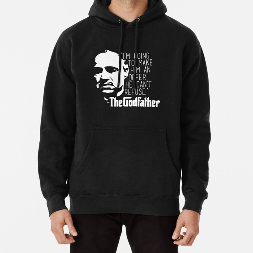 The Godfather Hoodie The Godfather God Father Mafia Mobster Movie Film Classic Vintage Oldies Old