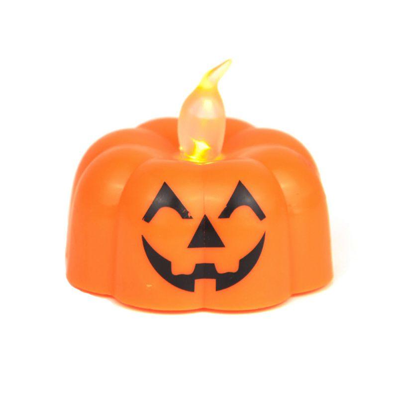 1pc eletrônico abóbora lanterna led eletrônico cera de chá lâmpada natal bola layout dia das bruxas luz natal bolas para o dia das bruxas