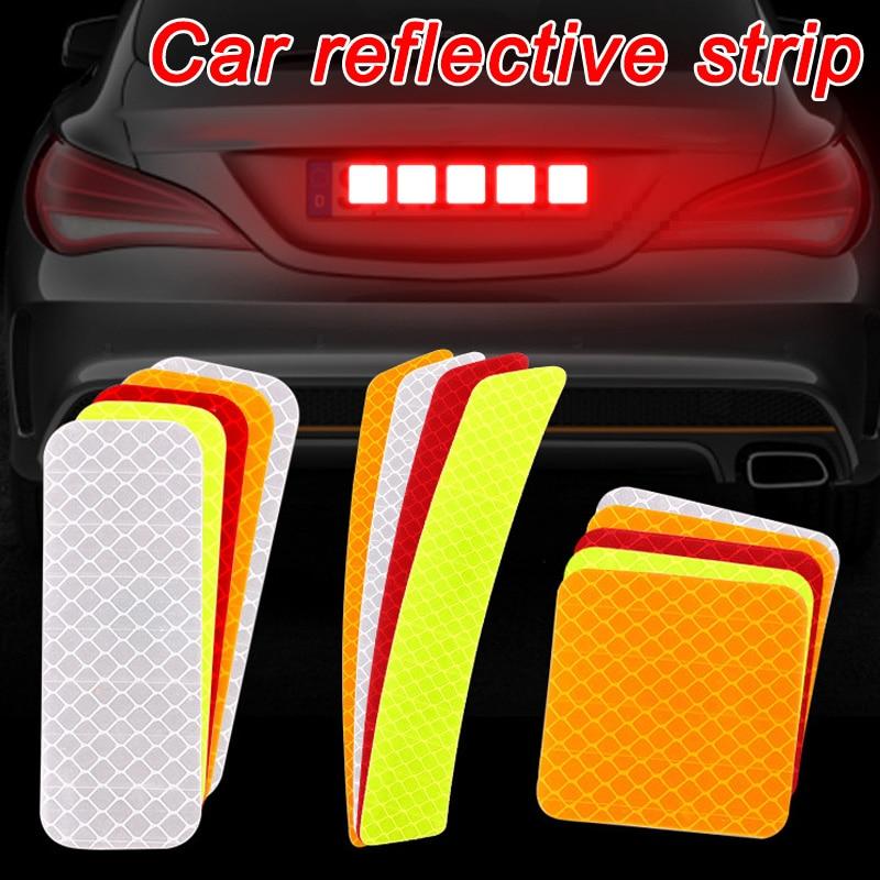 10pcs Car Door Sticker Decal Warning Mark Tape Reflective Sticker Reflective Strip OPEN High Sign Sa