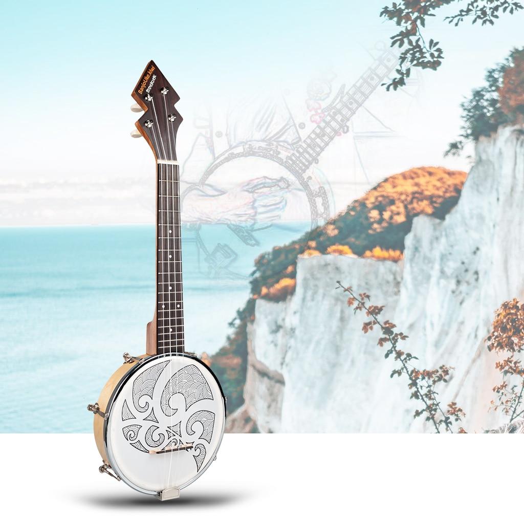 Náilon 4 cordas concerto banjo 26 polegada uke ukulele baixo guitarra para instrumentos de cordas musicais amante presente