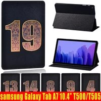 pu leather stand tablet cover case for samsung galaxy tab a7 10 4 inch 2020 sm t500 sm t505 flip protective case pen